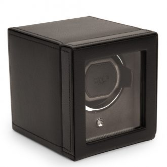WOLF - Cub Black Pebble Watch Winder With Cover 461103