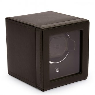 WOLF - Cub Brown Pebble Watch Winder With Cover 461106