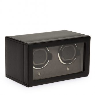 WOLF - Cub Double Watch Winder Black With Cover 461203
