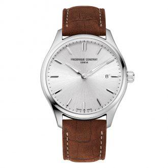 FREDERIQUE CONSTANT - Classics Quartz Silver Dial Strap Watch FC-220SS5B6