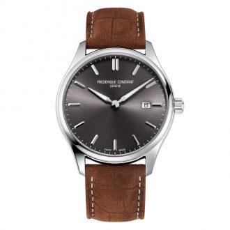 FREDERIQUE CONSTANT - Classics Quartz Grey Dial Strap Watch FC-220DGS5B6