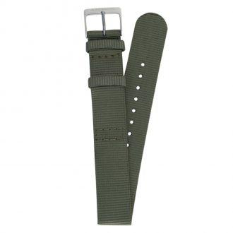 JUNGHANS - Khaki Green Max Bill Textile Strap 20mm 420506831