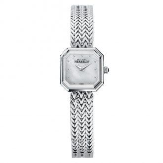 MICHEL HERBELIN - Octogone Bracelet Watch White Mother of Pearl Dial 17436/B19