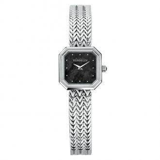 MICHEL HERBELIN - Octogone Bracelet Watch Black Mother of Pearl Dial 17436/B49