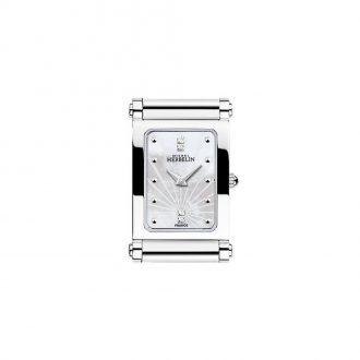 MICHEL HERBELIN - Antarès Rectangular Steel Customisable Watch H.17048/59
