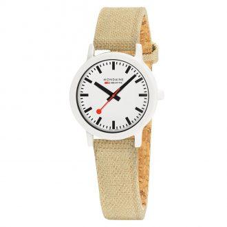 MONDAINE - Essence White 32mm Sustainable Watch Sand Strap MS1.32110.LS