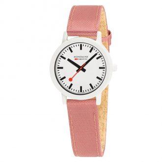 MONDAINE - Essence White 32mm Sustainable Watch Pink Strap MS1.32111.LP
