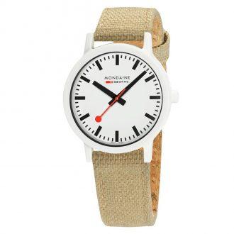MONDAINE - Essence White 41mm Sustainable Watch Sand Strap MS1.41110.LS