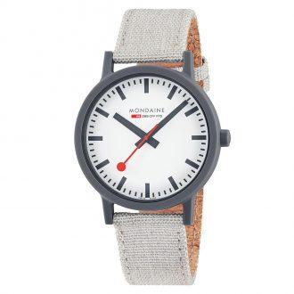 MONDAINE - Essence Light Grey 41mm Sustainable Watch MS1.41111.LH
