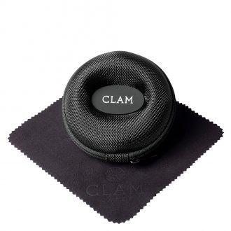 CLAM - Single Watch Travel Case Jet Black CLAMBLACK