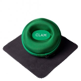 CLAM - Single Watch Travel Case Racing Green CLAMGREEN