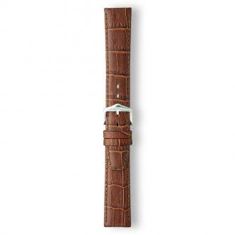 LULWORTH Brown Antique Croco Grain Leather Watch Strap LS1209/2
