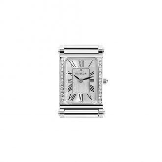 MICHEL HERBELIN - Antarès Rectangular Diamond Set Customisable Watch H.17048/26Y01