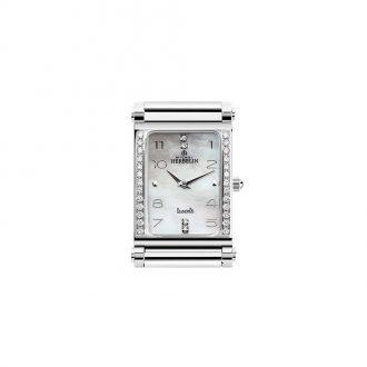 MICHEL HERBELIN - Antarès Rectangular Diamond Set Customisable Watch H.17048/26Y89