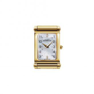 MICHEL HERBELIN - Antarès Rectangular Gold Tone Customisable Watch H.17048/P79