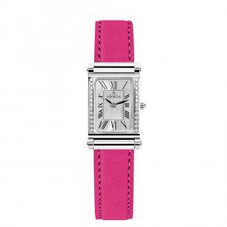 MICHEL HERBELIN - Antarès Diamond Set Pink Strap Combination COM.17048/26Y01.30A