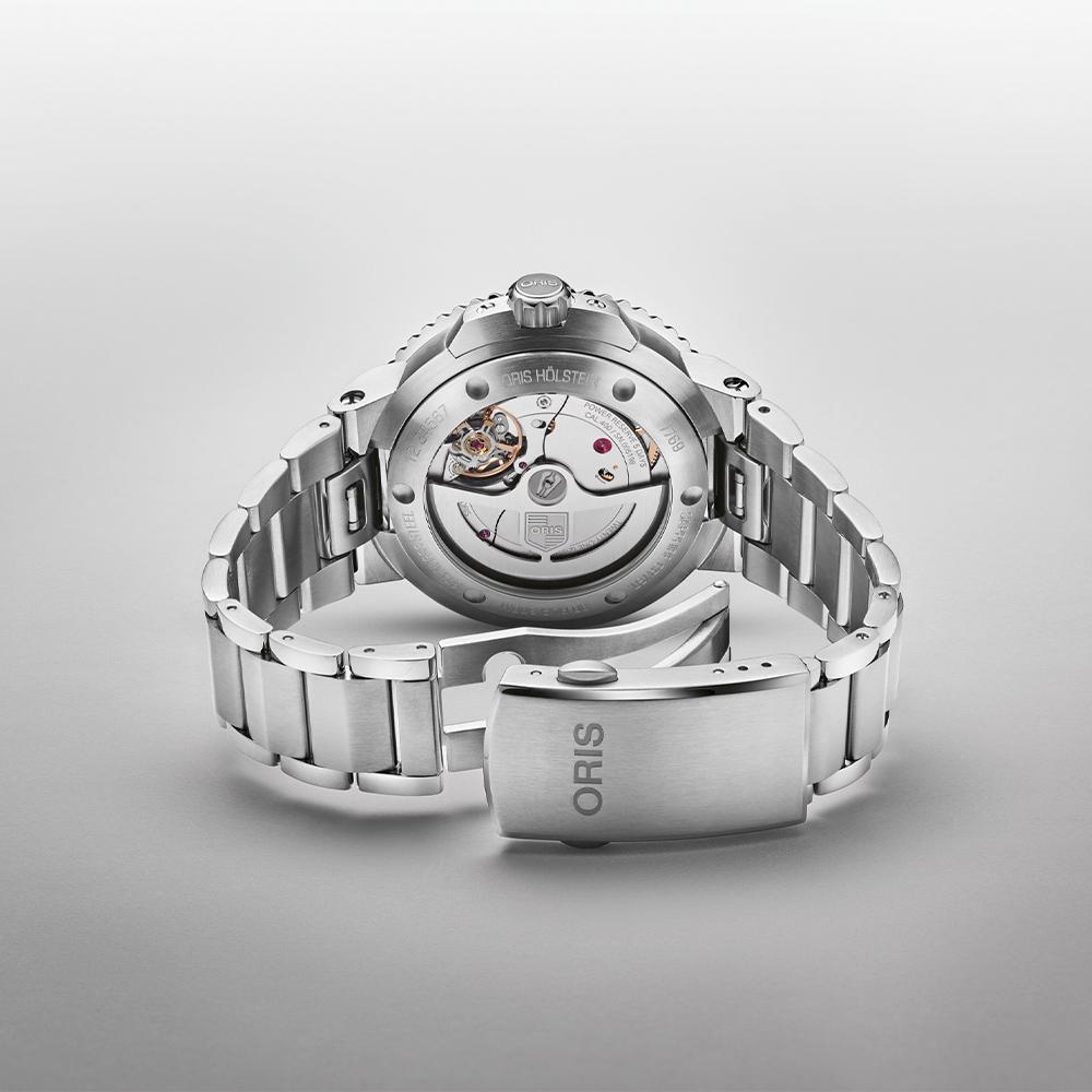 Oris Aquis Date Calibre 400 case size 41.5mm blue dial watch model 0140077694135-0782209PEB