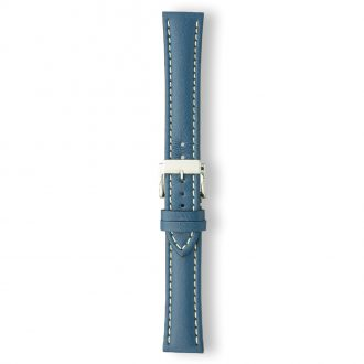 AREZZO Blue Heavy Padded Stitched Calf Leather Watch Strap PC450/11