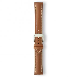 AREZZO Brown Heavy Padded Stitched Calf Leather Watch Strap PC450/2