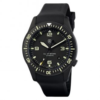 ELLIOT BROWN - Holton Automatic Black Dial Watch 101-A10-R06