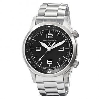 ELLIOT BROWN - Canford Black Dial Bracelet Watch 202-006-B07