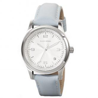ELLIOT BROWN - Kimmeridge 38mm White Dial Blue Strap Watch 405-002-L55