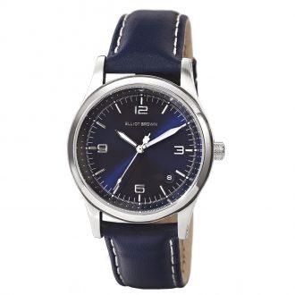 ELLIOT BROWN - Kimmeridge 38mm Blue Dial & Strap Watch 405-003-L52