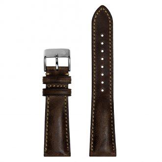 DUCKWORTH PRESTEX - Dark Brown Horween Leather Watch Strap 22mm DPDBL22