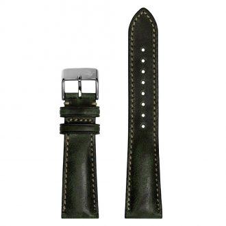 DUCKWORTH PRESTEX - Dark Green Horween Leather Watch Strap 22mm DPDGL22