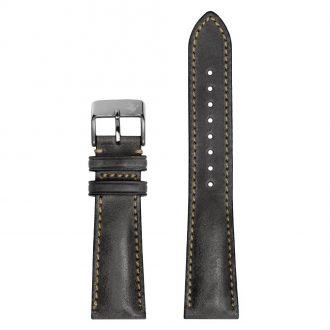 DUCKWORTH PRESTEX - Grey Horween Leather Watch Strap 22mm DPGL22