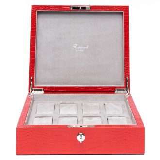 RAPPORT - Brompton Eight Watch Box in Red Leather L267