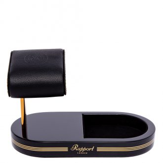 RAPPORT - Formula Watch Stand with Tray in Black and Gold WS22