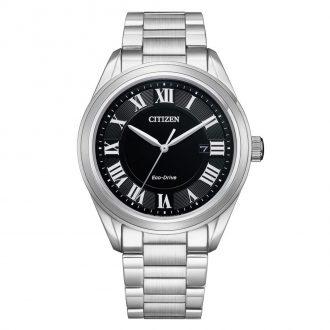 CITIZEN - Arezzo Black Dial Stainless Steel Bracelet Watch AW1690-51E