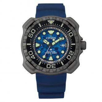 CITIZEN - Promaster Diver Super Titanium Blue Strap Watch BN0227-09L