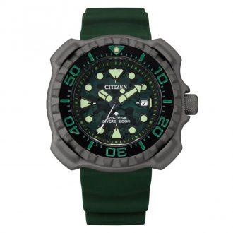 CITIZEN - Promaster Diver Super Titanium Green Strap Watch BN0228-06W