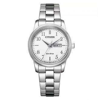CITIZEN - Classic Stainless Steel White Dial Women's Bracelet Watch EW3261-57A