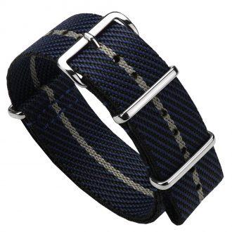 DUCKWORTH PRESTEX - Blue NATO Watch Strap with Beige Stripe DPBNB