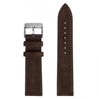 DUCKWORTH PRESTEX - Chocolate Brown Suede Italian Leather Watch Strap 20mm DPCBS20