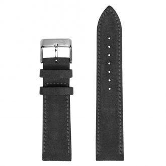 DUCKWORTH PRESTEX - Dark Grey Suede Italian Leather Watch Strap 20mm DPDGS20