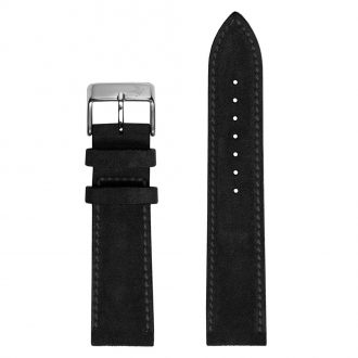 DUCKWORTH PRESTEX - Ebony Brown Suede Italian Leather Watch Strap 20mm DPEBS20