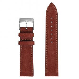 DUCKWORTH PRESTEX - Jasper Rust Suede Italian Leather Watch Strap 20mm DPJRS20