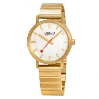MONDAINE - Classic 36mm Gold Tone Bracelet Watch A660.30314.16SBM