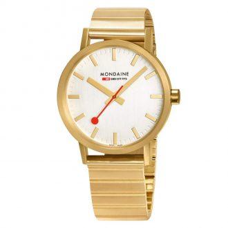 MONDAINE - Classic 40mm Gold Tone Bracelet Watch A660.30360.16SBM